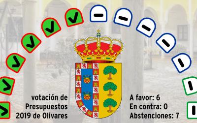 Aprobado sin oposición el presupuesto de Olivares para 2019.