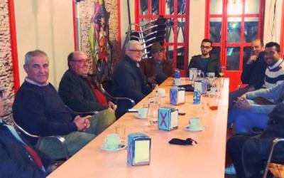 El PSOE de Olivares con los aficionados del flamenco