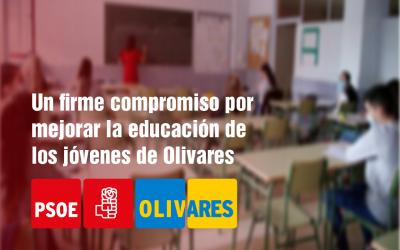 Mejoras y medidas de seguridad realizadas en los colegios de Olivares.